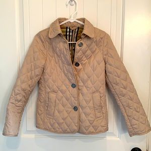 Burberry quilted button designer jacket coat